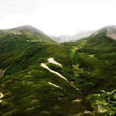 長野、仙丈ケ岳、山頂を望む