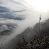 岡山、下蒜山、太陽と雲のドラマが続く