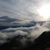 岡山、下蒜山、雲と太陽