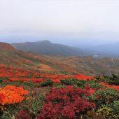 須川湖、須川温泉方面遠望