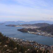 屋島から小豆島を望む